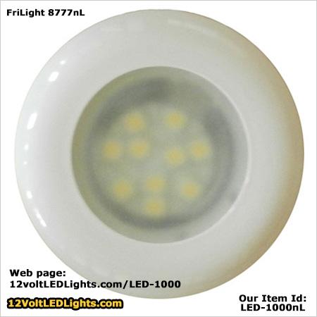 FriLight 8777 Nova 12 volt LED Dome Light Optional Spring Mount