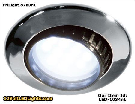 frilight 8780nl comet 12 volt led adjustable dome light with glass