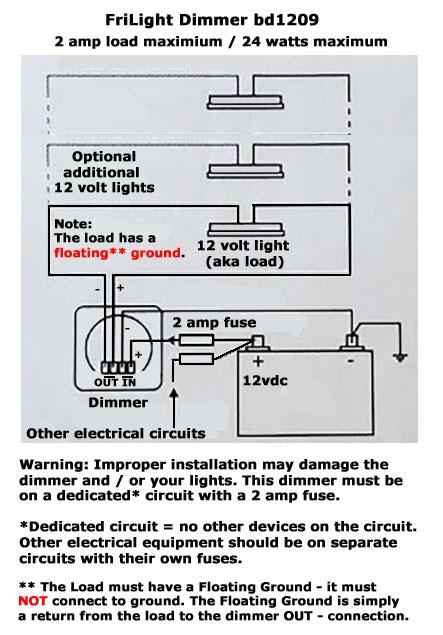 Bd1209 12 Volt Led Dimmer Switch