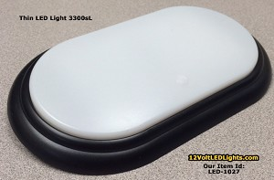 Thin 3300sl Rv Led Dome Light 12 Volt With Integral Lens Switch For Low Profile Surface Mount